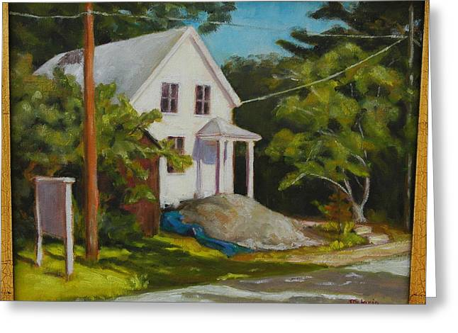 Pleinair Greeting Cards - Under Construction Greeting Card by Joyce Delario