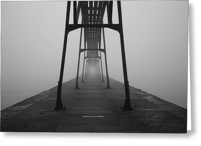 Misty Bridge Greeting Cards - Under Greeting Card by Mountain Dreams