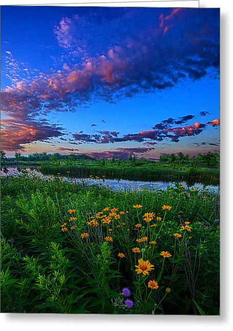 Twilight Greeting Cards - Under Ones Breath Greeting Card by Phil Koch