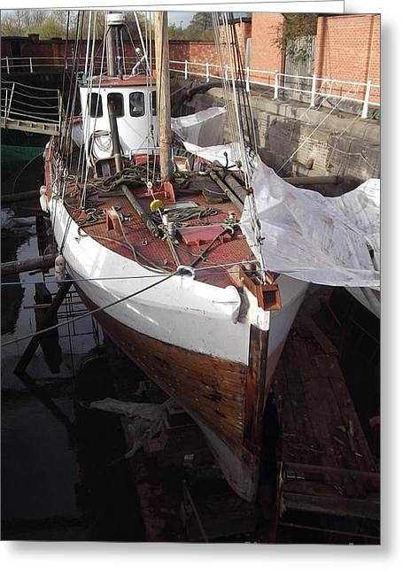 Historic Ship Greeting Cards - Under Repair 1 Greeting Card by John Williams