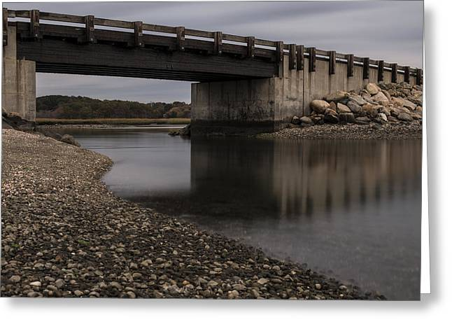 Under Seapowet Bridge Greeting Card by Andrew Pacheco