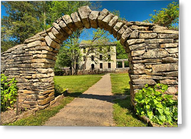 Indiana Springs Greeting Cards - Under The Arch Greeting Card by Adam Jewell