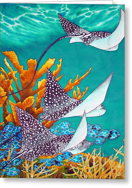 Tang Tapestries - Textiles Greeting Cards - Under the Bahamian Sea Greeting Card by Daniel Jean-Baptiste