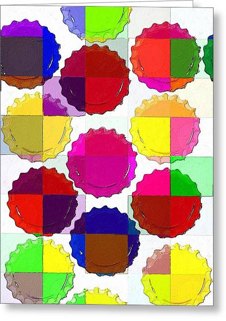 Bottle Cap Greeting Cards - Under the Blanket of Colors Greeting Card by Florian Rodarte