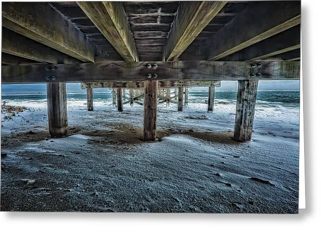 Duxbury Greeting Cards - Under the Boardwalk Greeting Card by Edmund Prescottano