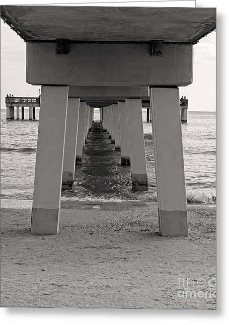 Boardwalk Greeting Cards - Under the boardwalk Greeting Card by Edward Fielding