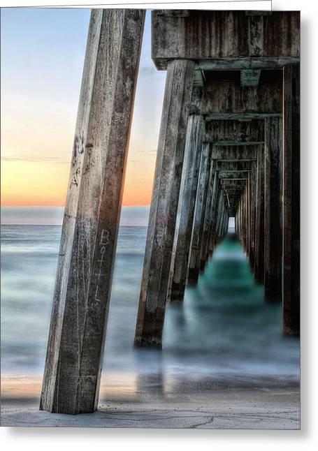 Emerald Coast Greeting Cards - Under the Boardwalk Greeting Card by JC Findley