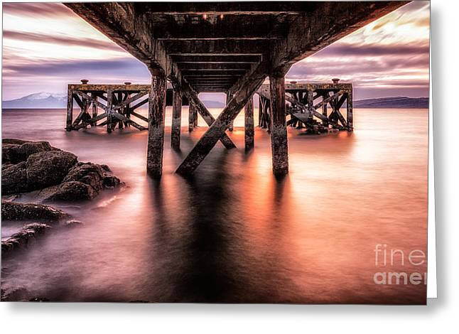 Ayrshire Greeting Cards - Under the boardwalk Greeting Card by John Farnan