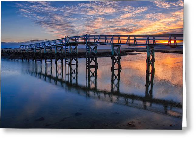Cape Cod Massachusetts Greeting Cards - Under the Boardwalk Greeting Card by Michael Blanchette