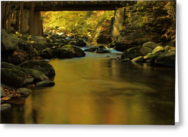 Tennessee River Greeting Cards - Under The Bridge In Autumn Greeting Card by Dan Sproul