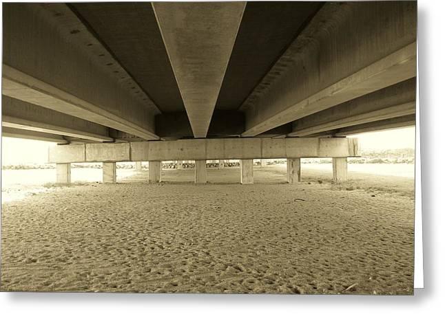 Under The Bridge Greeting Card by Joanne Askew