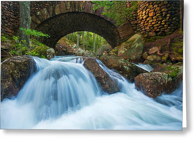 Carriage Road Greeting Cards - Under the Bridge Greeting Card by Joseph Rossbach