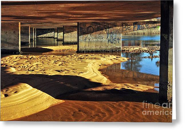 Under The Bridge Greeting Card by Kaye Menner