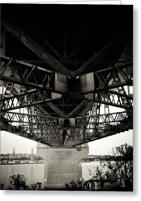 Framework Greeting Cards - Under the bridge Greeting Card by Les Cunliffe
