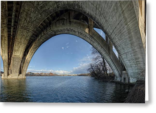 Washington Dc Greeting Cards - Under The Bridge Greeting Card by Metro DC Photography