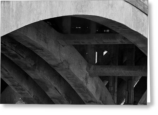 Michael D Friedman Greeting Cards - Under the Bridge Greeting Card by Michael Friedman