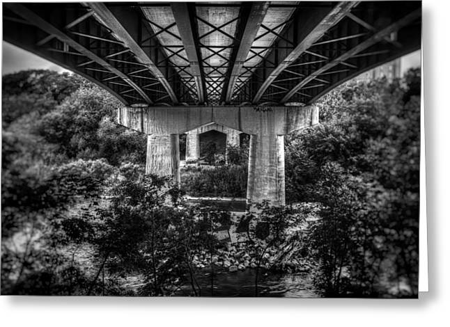 Dark Water Greeting Cards - Under the Bridge Greeting Card by Scott Norris