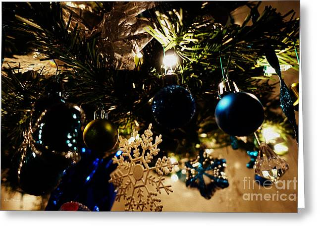 Christmas Cheer Greeting Cards - Under The Christmas Tree Greeting Card by Cheryl Young