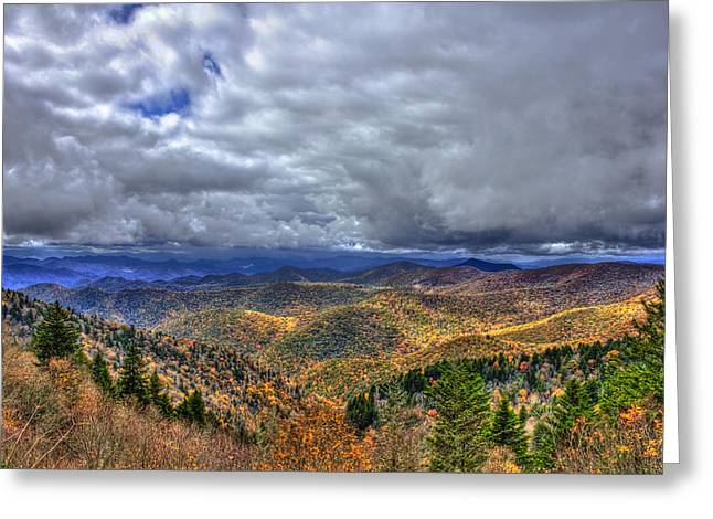Pisgah National Forest Greeting Cards - Under The Clouds Blue Ridge Parkway Great Smokey Mountains North Carolina Greeting Card by Reid Callaway