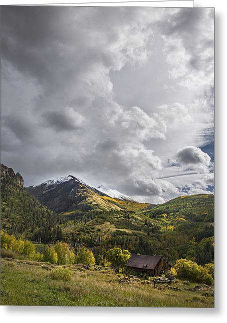 Colorado Artwork Greeting Cards - Under the Clouds Greeting Card by Jon Glaser