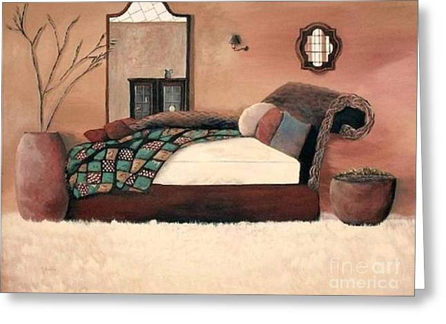 Interior Design Tapestries - Textiles Greeting Cards - Under The Covers Greeting Card by Claire Masters
