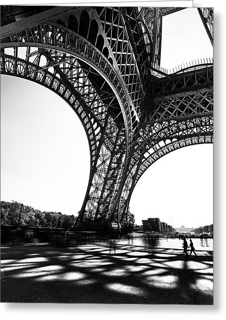 Height Greeting Cards - Under the Eiffel tower Greeting Card by Ivan Vukelic