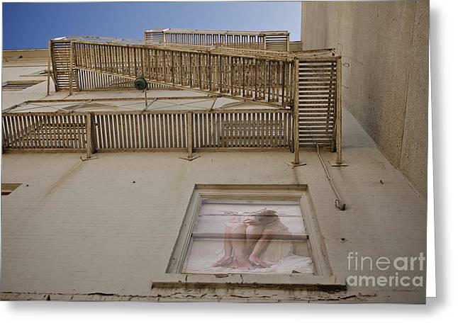 Sherry Davis Greeting Cards - Under the Fire Escape Greeting Card by Sherry Davis