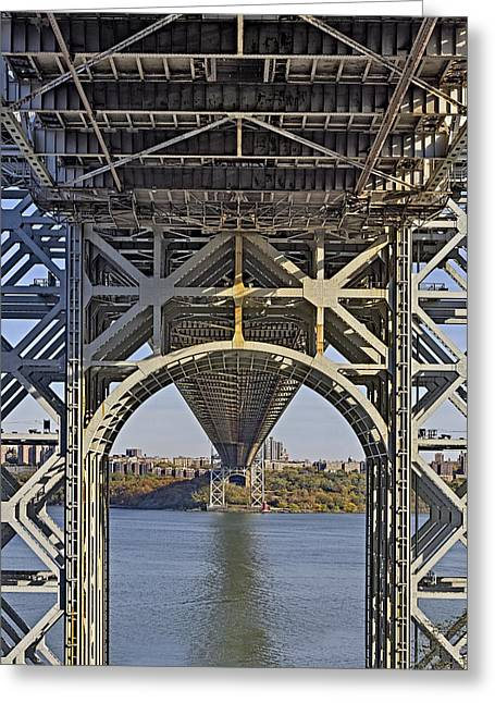 S-hooks Greeting Cards - Under The George Washington Bridge I Greeting Card by Susan Candelario