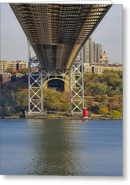 S-hooks Greeting Cards - Under The George Washington Bridge II Greeting Card by Susan Candelario