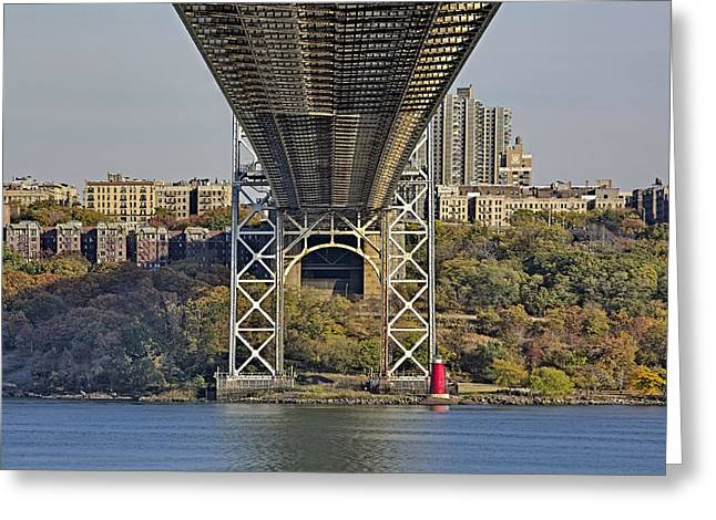 S-hooks Greeting Cards - Under The George Washington Bridge III Greeting Card by Susan Candelario
