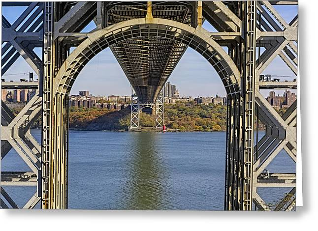 S-hooks Greeting Cards - Under The George Washington Bridge Greeting Card by Susan Candelario