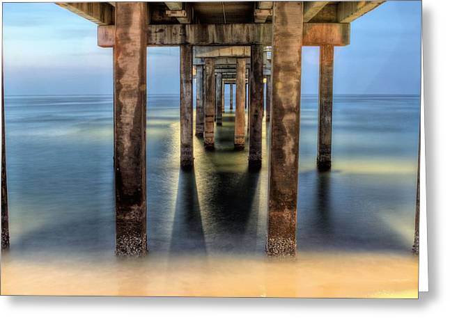 Under The Gulf Shores Pier Greeting Card by JC Findley