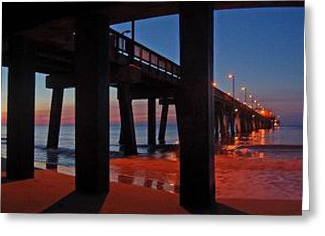 Under The Gulf State Pier  Greeting Card by Michael Thomas