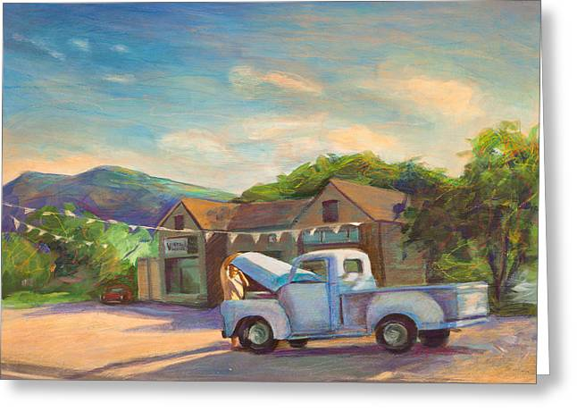 Vintage Truck Greeting Cards - Under The Hood Greeting Card by Athena  Mantle