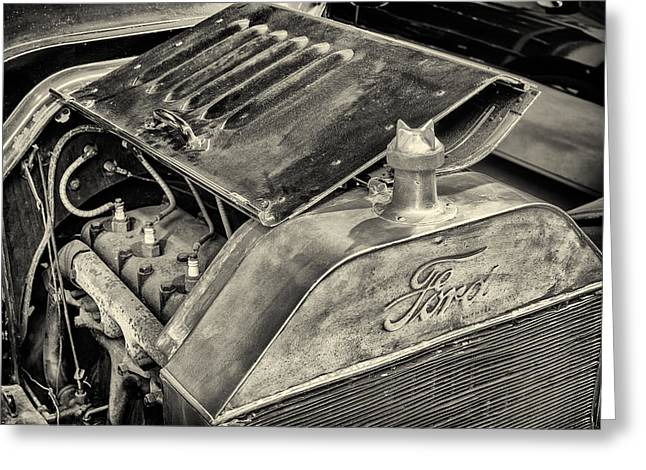 Ford Model T Car Greeting Cards - Under the Hood Greeting Card by Martin Bergsma