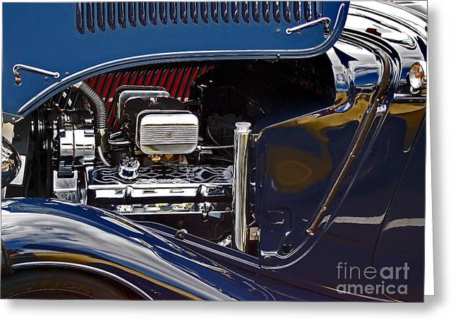 Car Part Greeting Cards - Under The Hood Greeting Card by Skip Willits