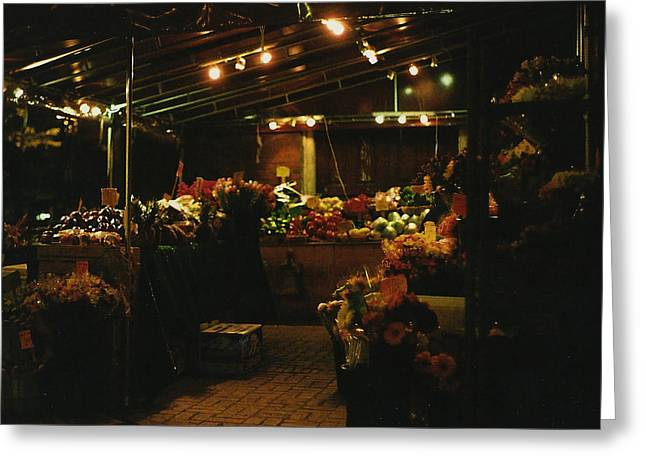 Under the Lights Greeting Card by Brian Nogueira