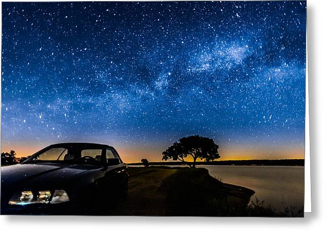 Outerspace Greeting Cards - Under The Milky Way I Greeting Card by Marco Oliveira