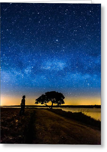 Outerspace Greeting Cards - Under The Milky Way II Greeting Card by Marco Oliveira