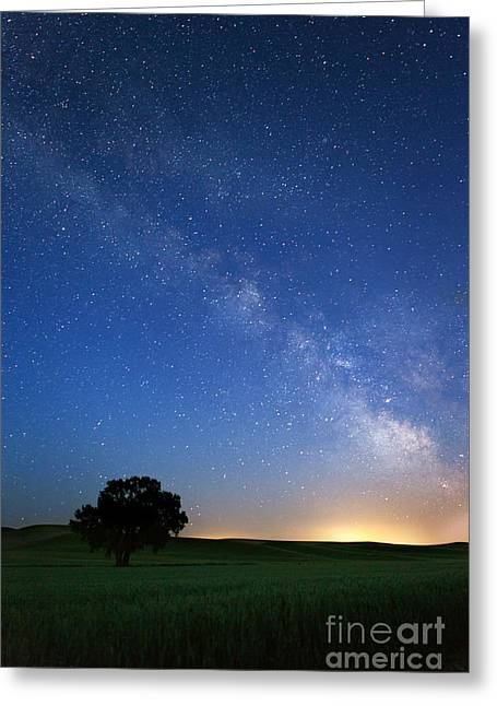 © Beve Brown-clark Greeting Cards - Under the MilkyWay Greeting Card by Reflective Moments  Photography and Digital Art Images