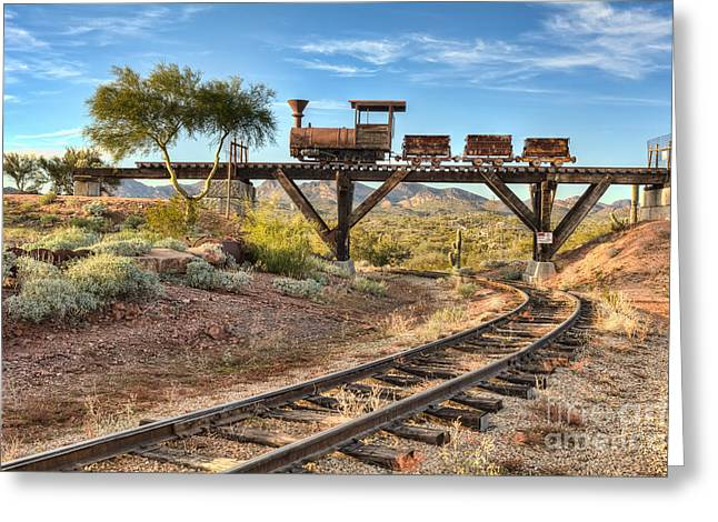 Old Town Digital Greeting Cards - Under The Mining Cars Greeting Card by Eddie Yerkish