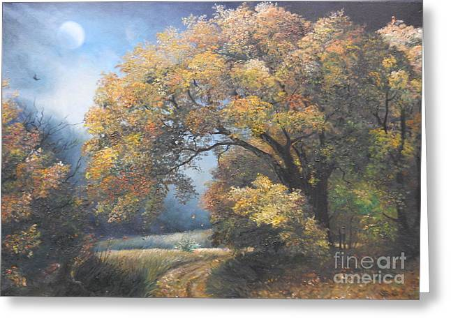 Under the moonlight  Greeting Card by Sorin Apostolescu
