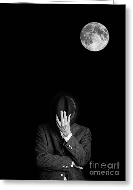 Obscure Greeting Cards - Under the moonlight the serious moonlight Greeting Card by Edward Fielding
