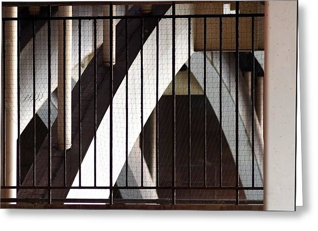 Under The Overground Greeting Card by Rona Black