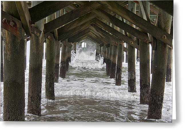 Under The Pawleys Island Pier Greeting Card by Sandra Anderson
