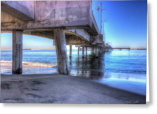 Surf Silhouette Greeting Cards - Under The Pier Greeting Card by Heidi Smith