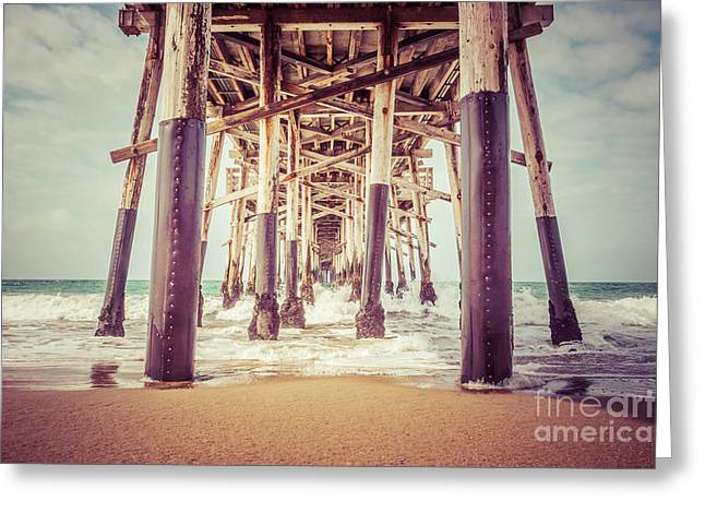 Beneath Greeting Cards - Under the Pier in Orange County California Picture Greeting Card by Paul Velgos