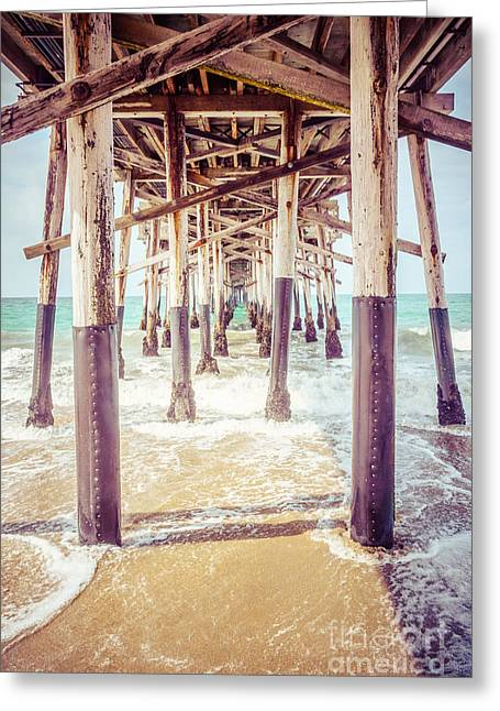 Orange County Greeting Cards - Under the Pier in Southern California Picture Greeting Card by Paul Velgos