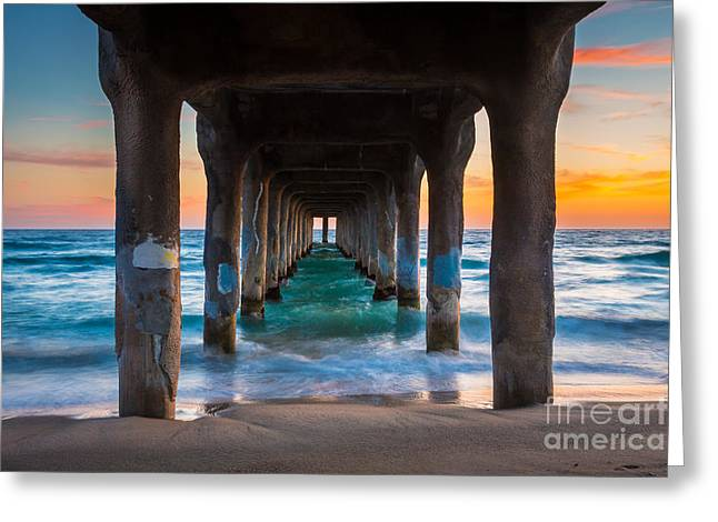 Californian Greeting Cards - Under the Pier Greeting Card by Inge Johnsson