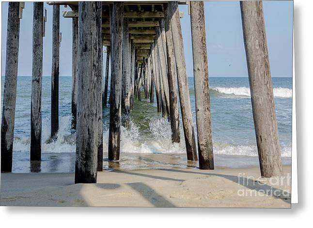 Rodanthe Greeting Cards - Under the Pier Greeting Card by Kay Pickens